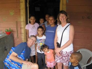 Dennis & Joanna Huis visiting their sponsored child